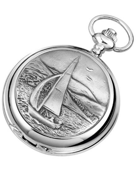 'Sailing' Quartz Pocket Watch with Chain
